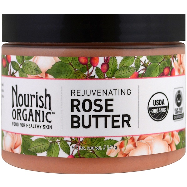 Nourish Organic, 若返るローズバター、5.2 oz (147 g) (Discontinued Item)