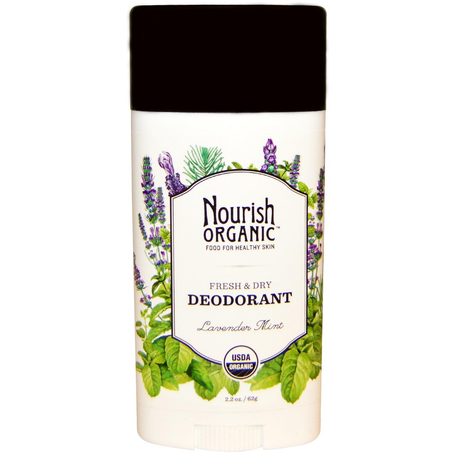Nourish Organic, Дезодорант Свежесть & сухость, Лаванда и мята, 2.2 унции (62 г)