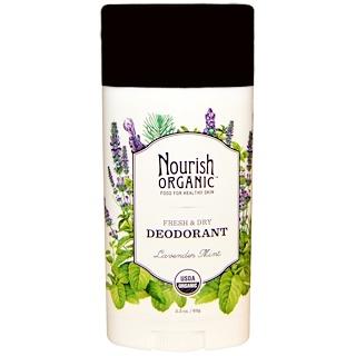 Nourish Organic, Fresh & Dry Deodorant, Lavender Mint, 2.2 oz (62 g)