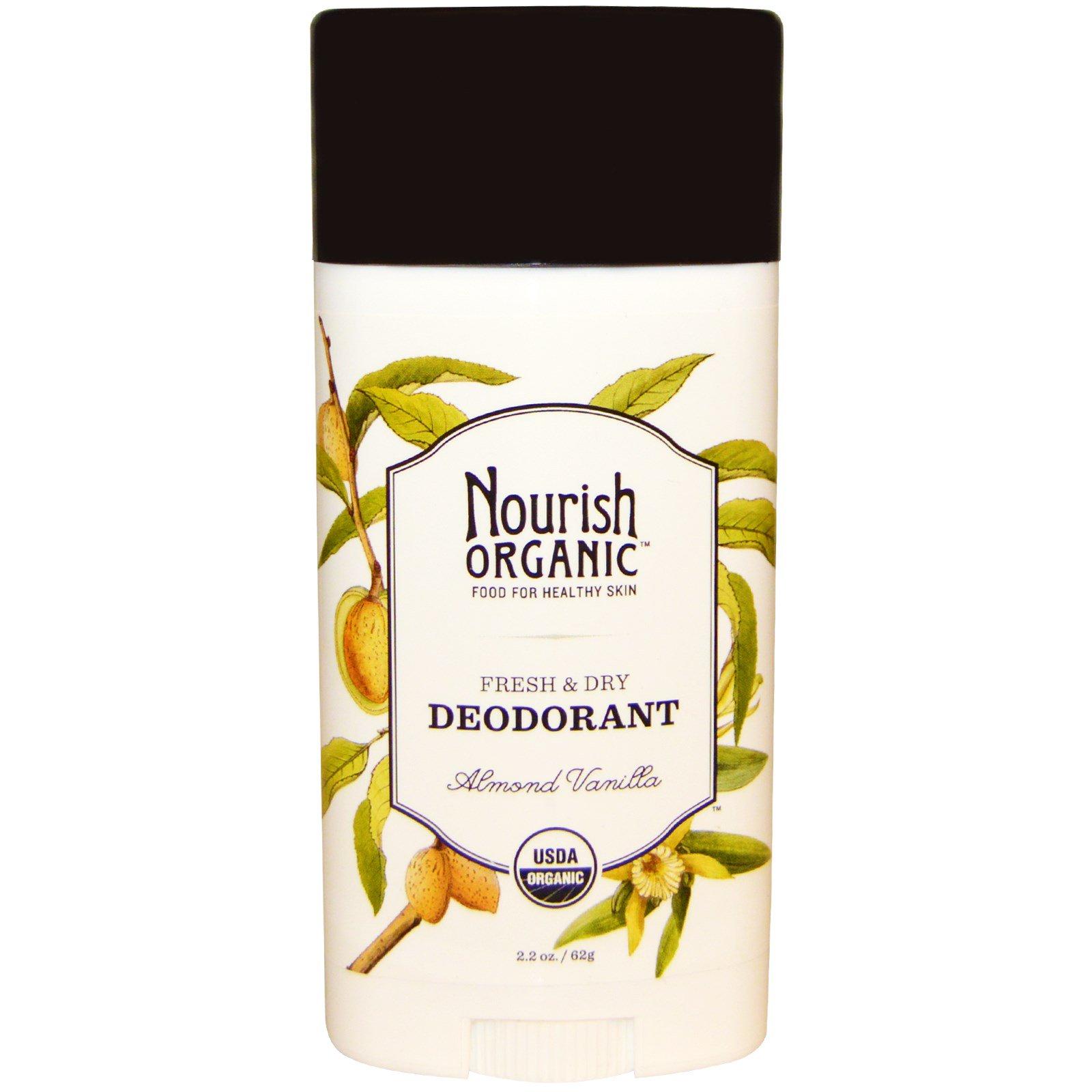 Nourish Organic, Дезодорант Свежесть & сухость, Миндаль и ваниль, 2.2 унции (62 г)