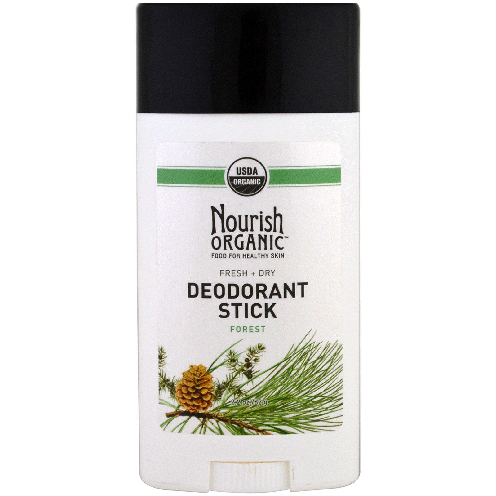 Nourish Organic, Органический дезодорант, свежий и сухой, лес, 62 г (2,2 унции)