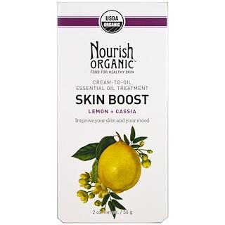 Nourish Organic, スキンブースト、レモン+カシア、2 oz (56 g)