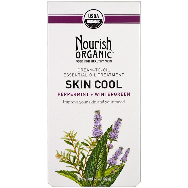 Nourish Organic, Skin Cool, Peppermint + Wintergreen, 2 oz (56 g)