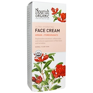 Nourish Organic, Face Cream, Argan + Pomegranate, 1.7 fl oz (50 ml)