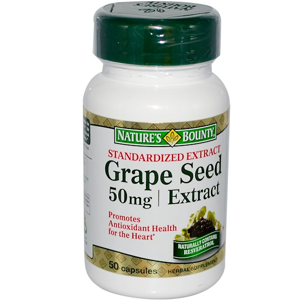Nature's Bounty, Grape Seed Extract, 50 mg, 50 Capsules (Discontinued Item)