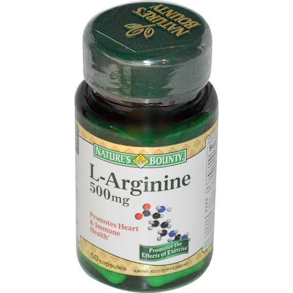 Nature's Bounty, L-Arginine, 500 mg, 50 Capsules (Discontinued Item)