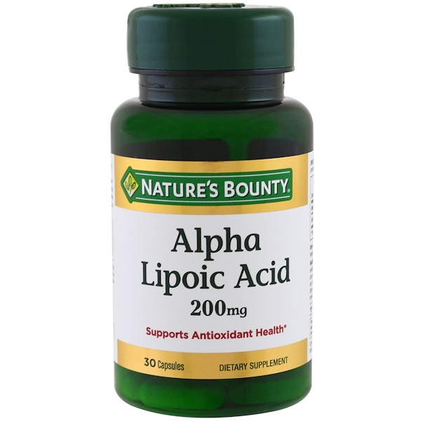 Nature's Bounty, Alpha Lipoic Acid, 200 mg, 30 Capsules (Discontinued Item)