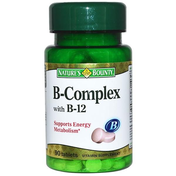 Nature's Bounty, B-Комплекс с витамином B-12, 90 таблеток (Discontinued Item)