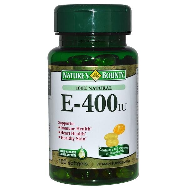 Nature's Bounty, E, 400 IU, 100 Softgels (Discontinued Item)