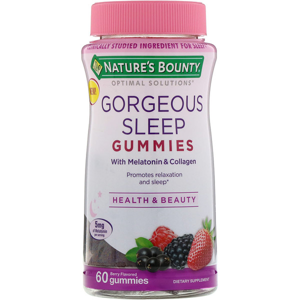 Optimal Solutions, Gorgeous Sleep, Berry Flavored, 60 Gummies