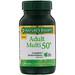 Мультивитамин для взрослых старше 50 лет, полный комплекс мультивитаминов с D3, 80 таблеток - изображение