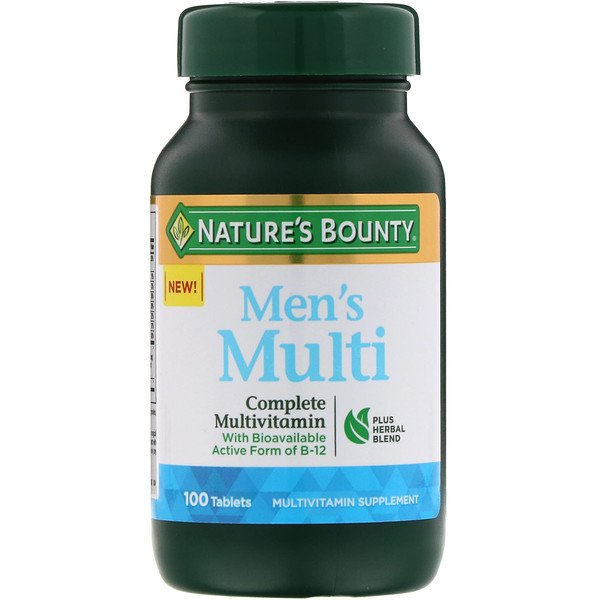 Nature's Bounty, Men's Multi, Complete Multivitamin, 100 Tablets