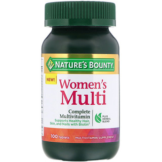 Nature's Bounty, Women's Multi, Complete Multivitamin, 100 Tablets