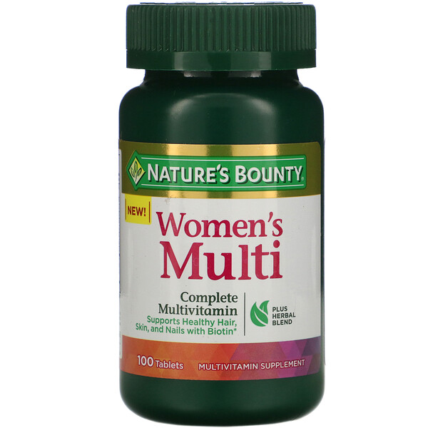 Nature's Bounty, Women's Multi, Complete Multivitamin, 100 Tablets