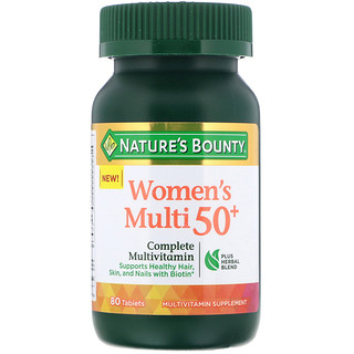 Nature's Bounty, Women's Multi 50+, Complete Multivitamin, 80 Tablets