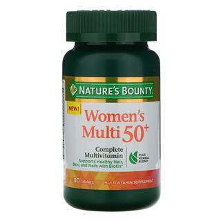 Nature's Bounty, Women's Multi 50+, Complete Multivitamin, 80 Tablets