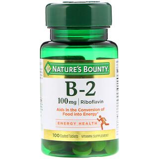 Nature's Bounty, Vitamina B2, 100 mg, 100 Comprimidos Revestidos