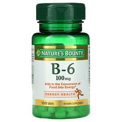 Nature's Bounty, 維生素 B-6,100 毫克,100 片