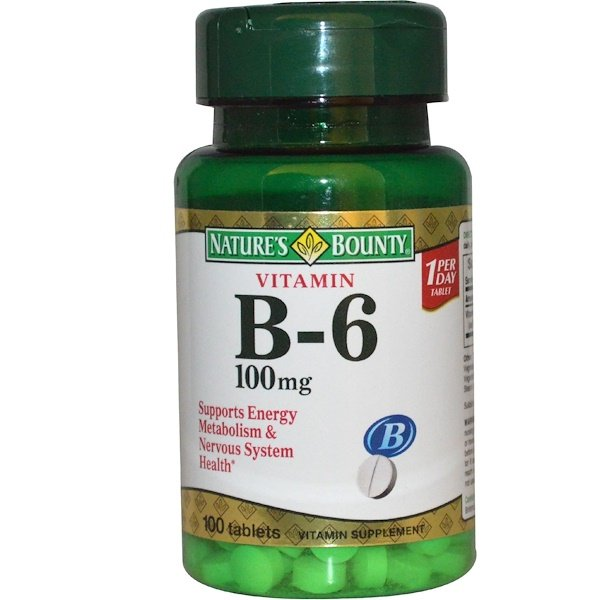 Nature's Bounty, Vitamin B-6, 100 mg, 100 Tablets