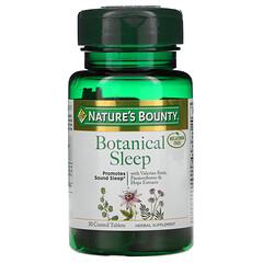 Nature's Bounty, Botanical Sleep,不含褪黑荷爾蒙,30 片包衣片