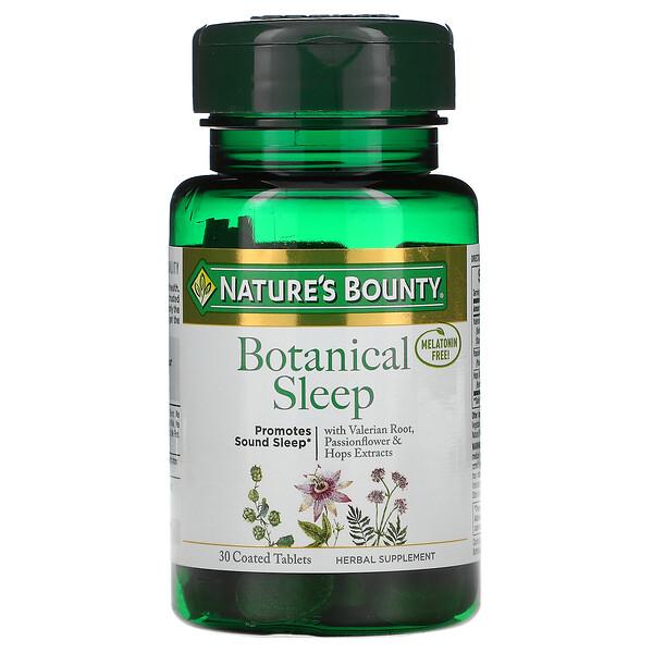 Botanical Sleep, Melatonin Free, 30 Coated Tablets