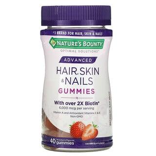 Nature's Bounty, Advanced, Hair, Skin & Nails Gummies, Strawberry, 3,000 mcg, 40 Gummies