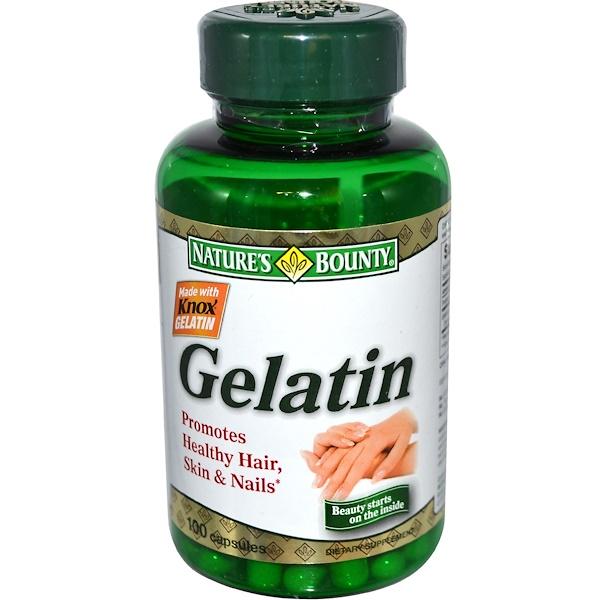 Nature's Bounty, Gelatin, 100 Capsules (Discontinued Item)