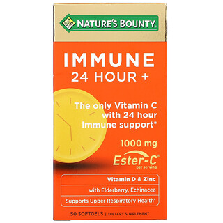 Nature's Bounty, Immune 24 Hour+, 500 mg, 50 Softgels