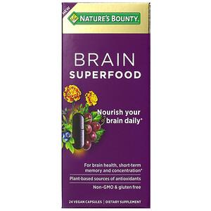 Nature's Bounty, Brain Superfood, 24 Vegan Capsules