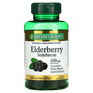 Nature's Bounty, Elderberry Sambucus, 210 mg, 120 Rapid Release Softgels
