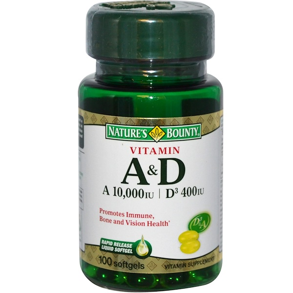 Nature's Bounty, Vitamin A & D, 100 Softgels (Discontinued Item)