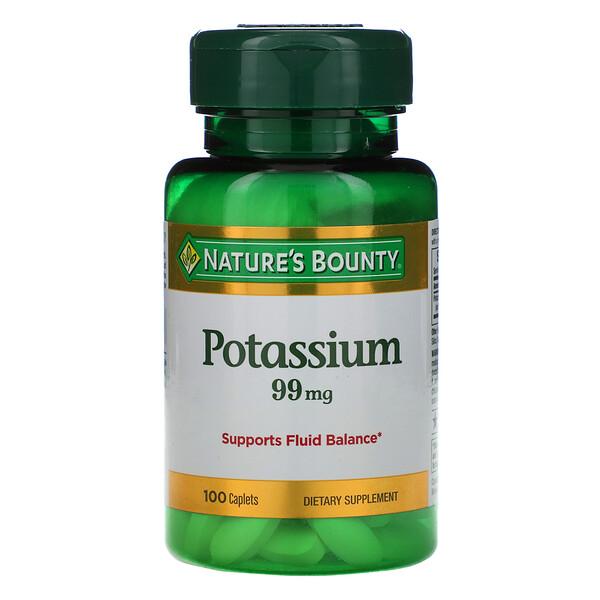 Potassium, 99 mg, 100 Caplets