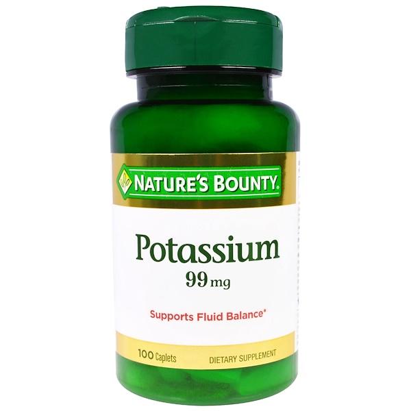Nature's Bounty, Калий, 99 мг, 100 таблеток