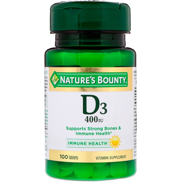 Nature's Bounty, D3, 400 IU, 100 Tablets (Discontinued Item)