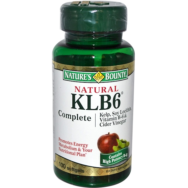 Nature's Bounty, Natural KLB6 Complete, 100 Softgels (Discontinued Item)