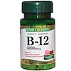 Nature's Bounty, B-12, Natural Cherry Flavor, 5000 mcg, 30 Quick Dissolve Tablets (Discontinued Item)