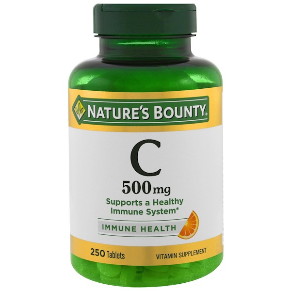 Nature's Bounty, Vitamin C, 500 mg, 250 Tablets