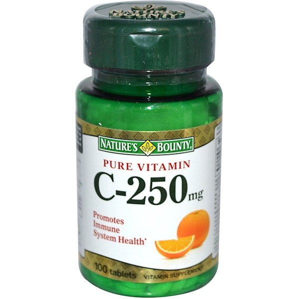 Nature's Bounty, Pure Vitamin C, 250 mg, 100 Tablets (Discontinued Item)