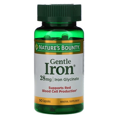 Nature's Bounty Железо мягкого действия, 28 мг, 90 капсул