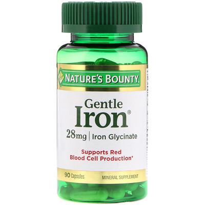 Железо мягкого действия, 28 мг, 90 капсул легкодоступное железо джентл айрон 90 капсул solgar минералы