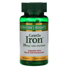 Nature's Bounty, Gentle Iron,28毫克,90粒膠囊