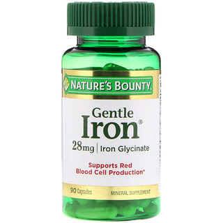 Nature's Bounty, Gentle Iron, 28 mg, 90 Capsules