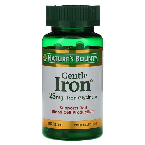 Nature's Bounty, Gentle Iron، 28 مجم، 90 كبسولة