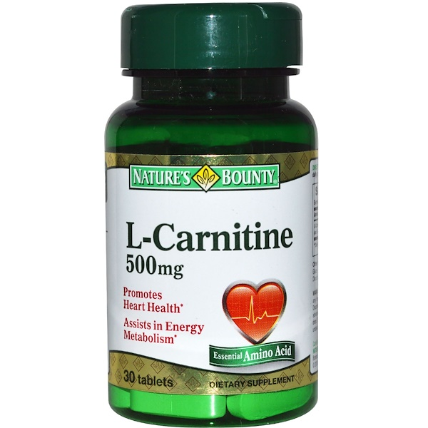 Nature's Bounty, L-Carnitine, 500 mg, 30 Tablets (Discontinued Item)