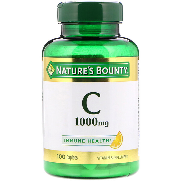 Vitamin C, 1,000 mg, 100 Caplets