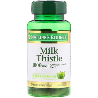 Nature's Bounty, Cardo mariano, 1000 mg*, 50 cápsulas blandas