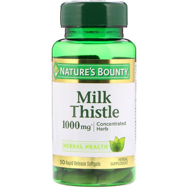 Nature's Bounty, Milk Thistle, 1000 mg, 50 Rapid Release Softgels