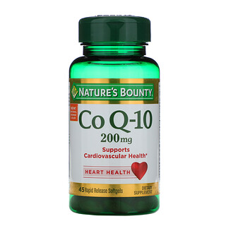 Nature's Bounty, Co Q-10, 200 mg, 45 Rapid Release Softgels