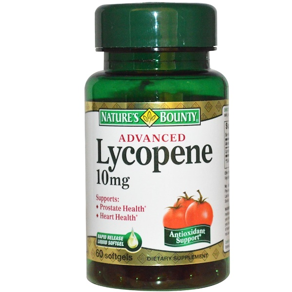 Nature's Bounty, Улучшенный ликопин, 10 мг, 60 капсул (Discontinued Item)