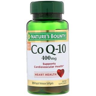 Nature's Bounty, Co Q-10, 400 mg, 39 Softgels de Liberação Rápida
